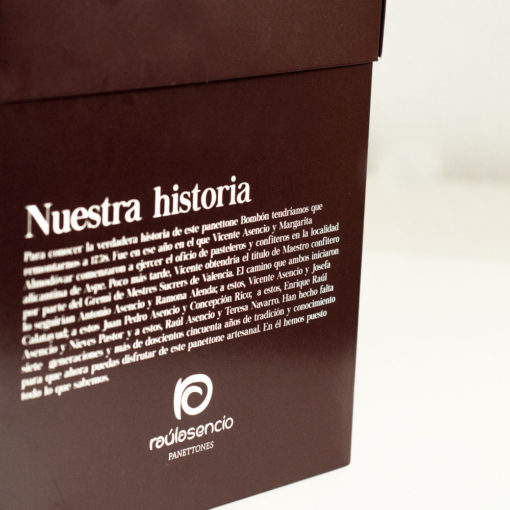 Panettone bombón (caja) - Raúl Asencio Pastelerías