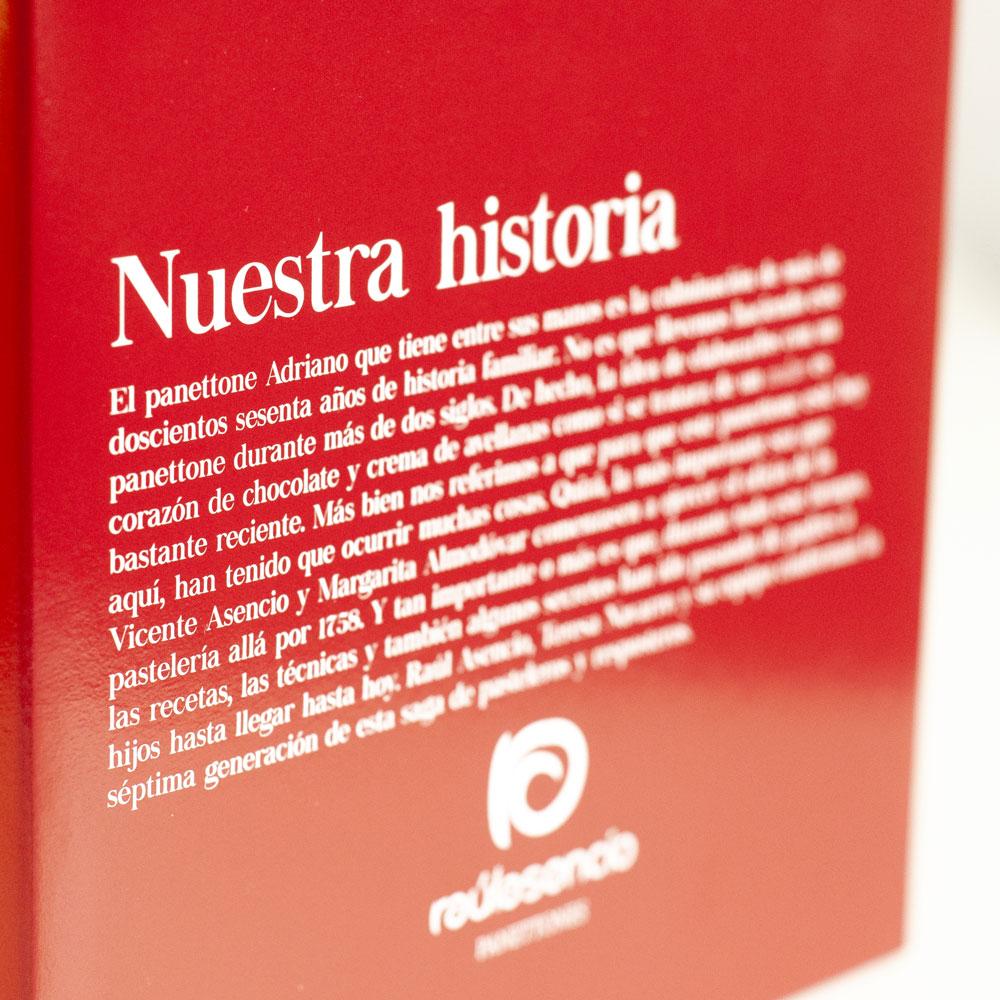 Panettone adriano caja -Raúl Asencio Pastelerías