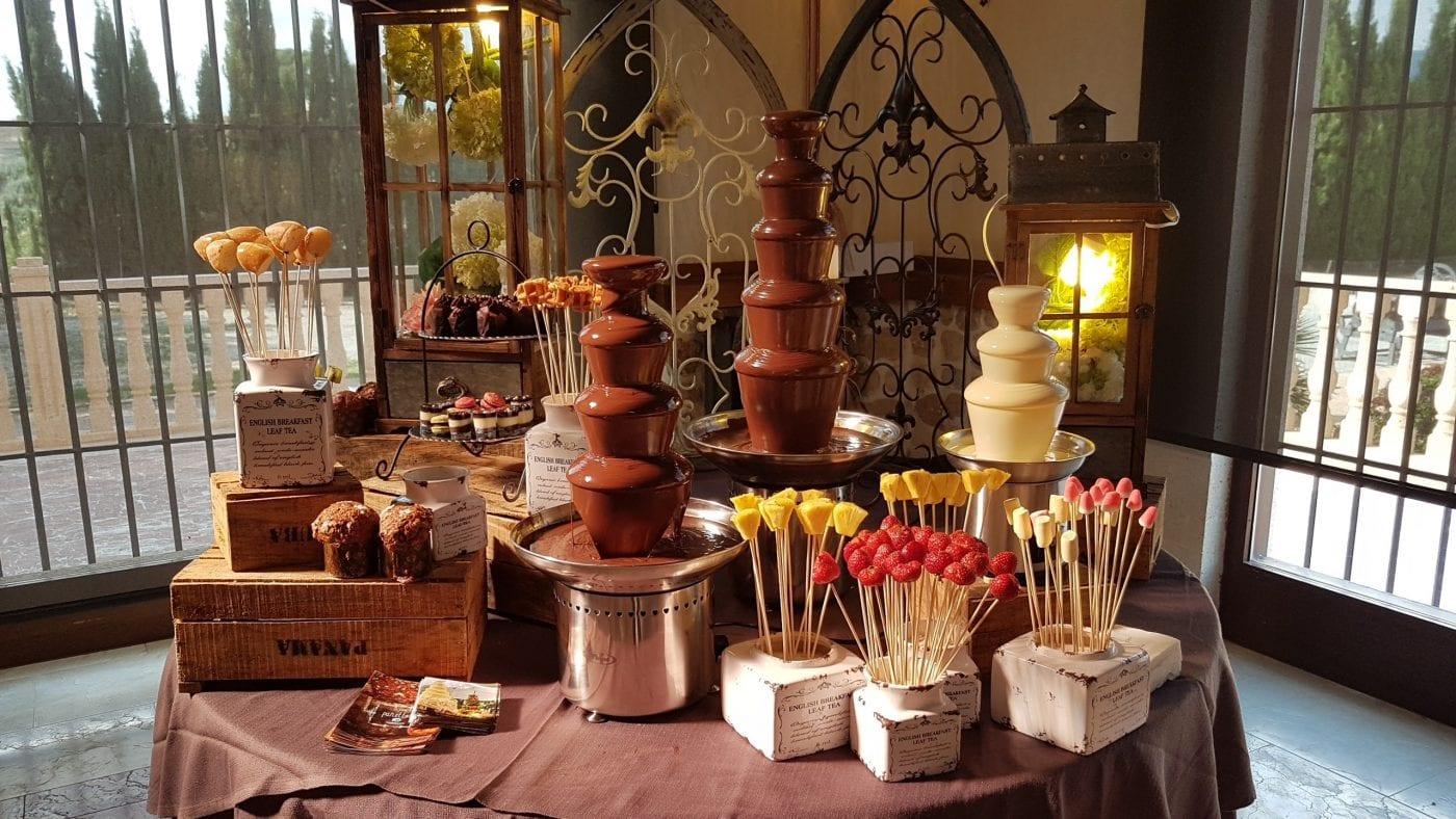 Fuente de chocolate Raúl Asencio rústica
