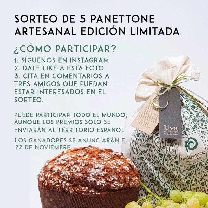 Sorteo de cinco panettones edición especial con uva del Vinalopó y chocolate Madirofolo de Madagascar