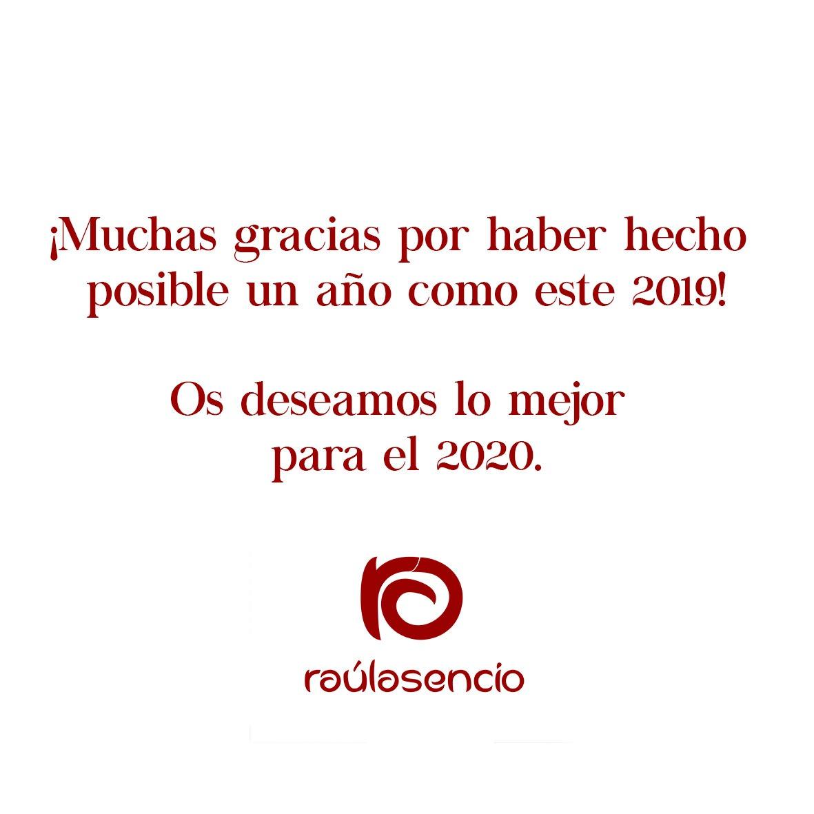 Agradecimiento 2019 Raúl Asencio Pastelerías