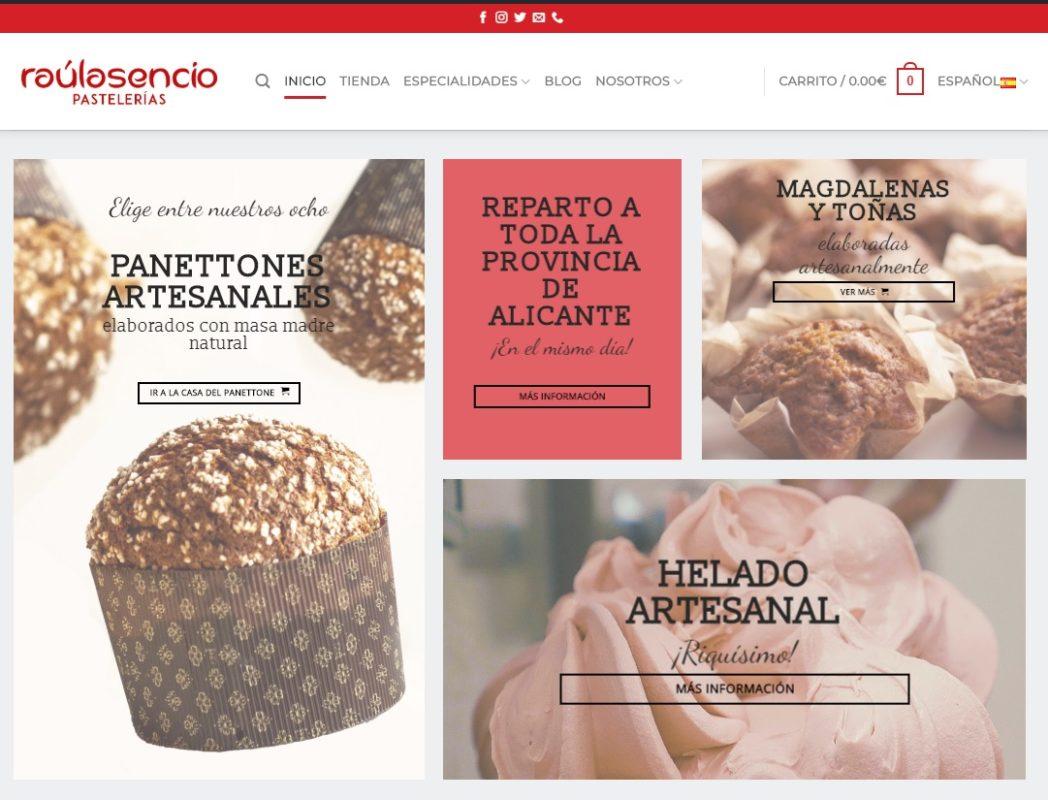 Página principal - Raúl Asencio Pastelerías
