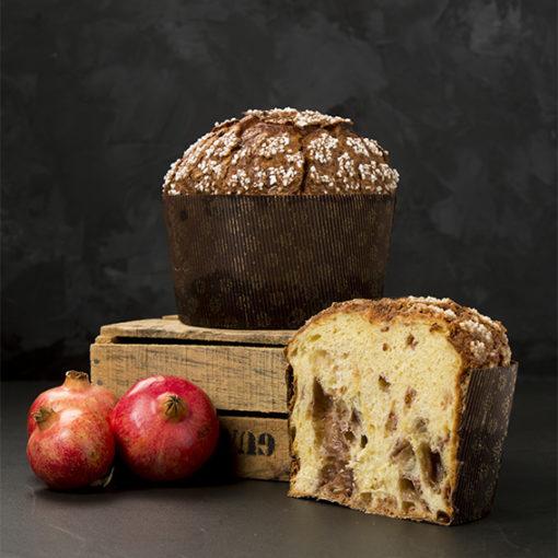 Panettone Granada Mollar de Elche y chocolate ruby - Pastelerías Raúl Asencio