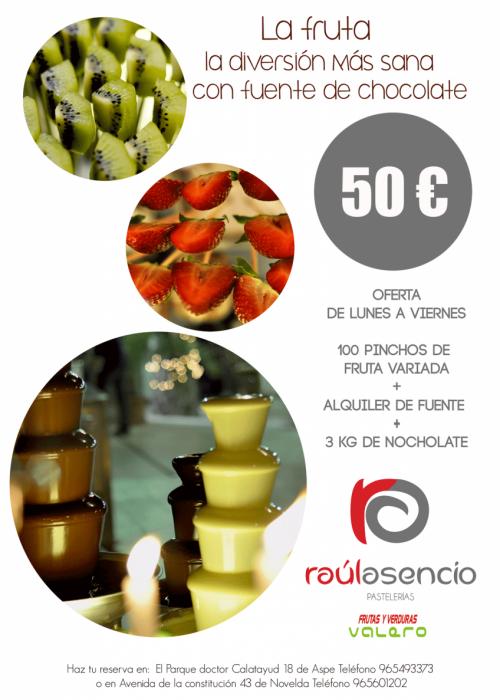 Oferta: Fuente de chocoalte y fruta 50€